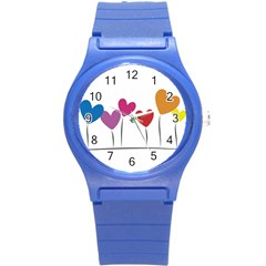 Heart Flowers Plastic Sport Watch (small)