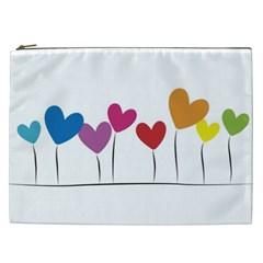 Heart flowers Cosmetic Bag (XXL)