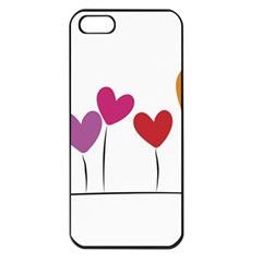 Heart Flowers Apple Iphone 5 Seamless Case (black)