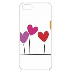 Heart flowers Apple iPhone 5 Seamless Case (White)