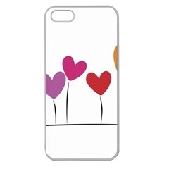 Heart Flowers Apple Seamless Iphone 5 Case (clear)