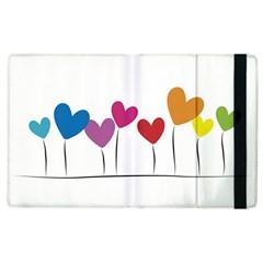 Heart flowers Apple iPad 3/4 Flip Case