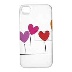 Heart flowers Apple iPhone 4/4S Hardshell Case with Stand
