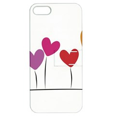 Heart Flowers Apple Iphone 5 Hardshell Case With Stand