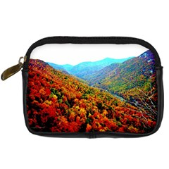 Through The Mountains Digital Camera Leather Case