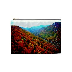 Through The Mountains Cosmetic Bag (medium)
