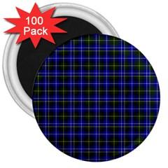 Macneil Tartan - 1 3  Button Magnet (100 pack)