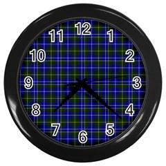 Macneil Tartan - 1 Wall Clock (Black)