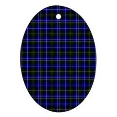Macneil Tartan - 1 Oval Ornament (Two Sides)