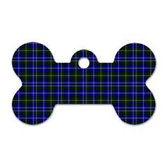 Macneil Tartan   1 Dog Tag Bone (two Sided)