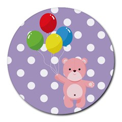 bear02 8  Mouse Pad (Round)