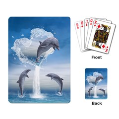 The Heart Of The Dolphins Playing Cards Single Design
