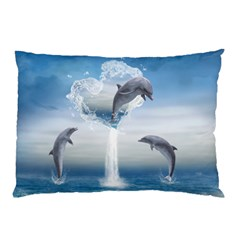 The Heart Of The Dolphins Pillow Case (Two Sides)