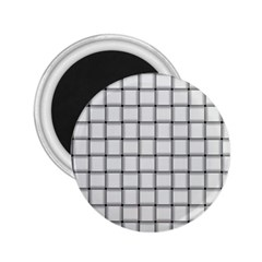 White Weave 2.25  Button Magnet