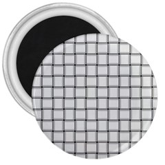 White Weave 3  Button Magnet