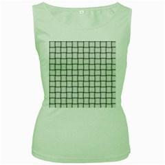 White Weave Womens  Tank Top (green)
