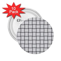 White Weave 2.25  Button (10 pack)