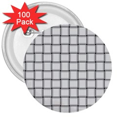 White Weave 3  Button (100 pack)