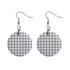 White Weave Mini Button Earrings