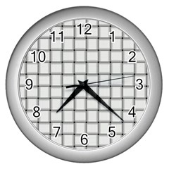 White Weave Wall Clock (silver)