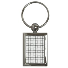 White Weave Key Chain (Rectangle)