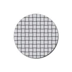 White Weave Drink Coaster (Round)