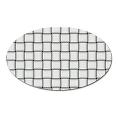 White Weave Magnet (Oval)