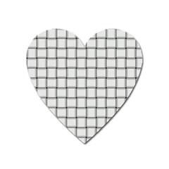White Weave Magnet (Heart)
