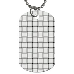White Weave Dog Tag (one Sided)