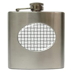 White Weave Hip Flask