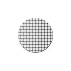 White Weave Golf Ball Marker