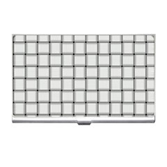 White Weave Business Card Holder