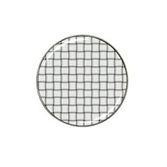 White Weave Golf Ball Marker (for Hat Clip)