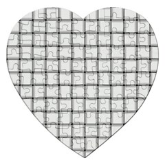 White Weave Jigsaw Puzzle (Heart)