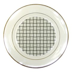 White Weave Porcelain Display Plate