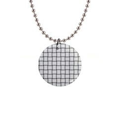 White Weave Button Necklace