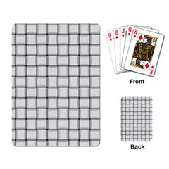 White Weave Playing Cards Single Design