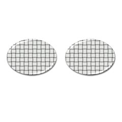White Weave Cufflinks (Oval)