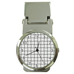 White Weave Money Clip with Watch