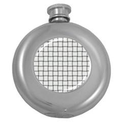 White Weave Hip Flask (Round)