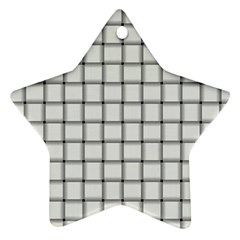 White Weave Star Ornament (Two Sides)