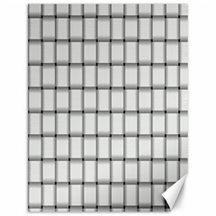 White Weave Canvas 12  X 16  (unframed)
