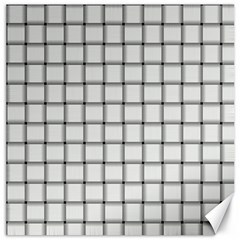 White Weave Canvas 20  x 20  (Unframed)