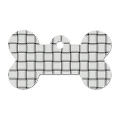 White Weave Dog Tag Bone (One Sided)
