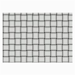 White Weave Glasses Cloth (Large, Two Sided)