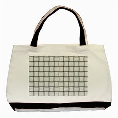 White Weave Twin-sided Black Tote Bag
