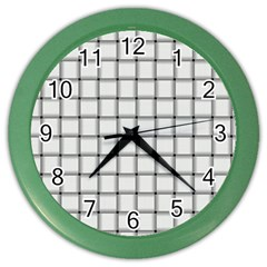 White Weave Wall Clock (color)