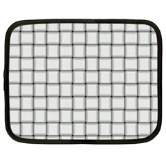 White Weave Netbook Case (Large)