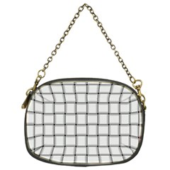 White Weave Chain Purse (one Side)