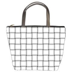 White Weave Bucket Bag